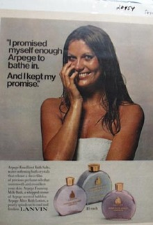 Lanvin Arpege Bath Salts Promise Ad 1972