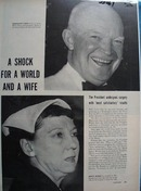 President & Mrs. Dwight D Eisenhower Article & Pictures 1956