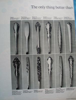 Oneida Silverware Patterns Ad 1972.