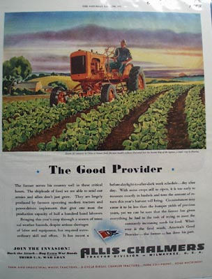 Allis Chalmers The Good Provider Ad 1943