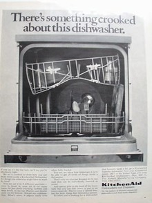 Kitchen Aid Something Crooked Ad 1968