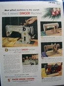 Singer Most Gifted Machines in World Ad 1956