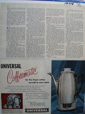 Universal For Finest Coffee Ad 1955