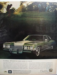 Cadillac Wherever Men Seek To Excel Ad 1972