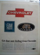 Chevrolet Get That Sure Feeling Ad 1967