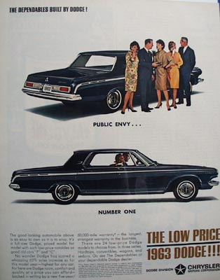 Dodge Public Envy Number One Ad 1963