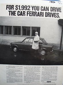 Fiat The Car Ferrari Drives Ad 1972