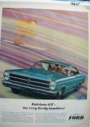 Ford For Very Lively Families Ad 1965