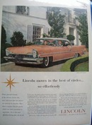 Lincoln Moves IN Best of Circles Ad 1957