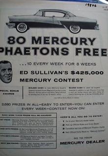 Mercury Phaetons Free Ad 1956