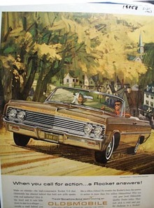 Oldsmobile A Rocket Answers Ad 1963