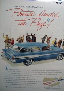 Pontiac No Argument Here Ad 1957