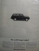 Volkswagen Worlds Largest Sedan Ad 1968