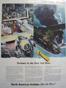 No. American Aviation Partners In Pace Ad 1944