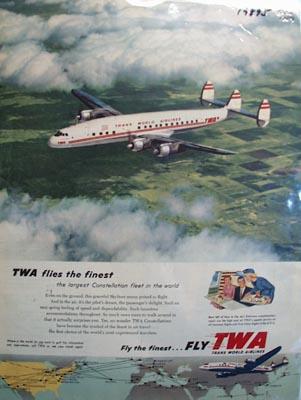 TWA Flies the Finest Ad 1954