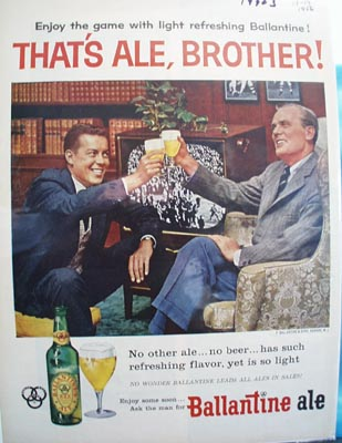 Ballantine Ale That's Ale Brother Ad 1956