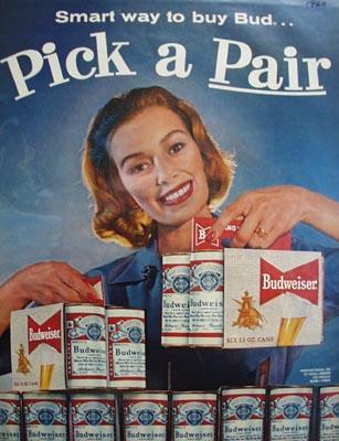 Budweiser Pick A Pair Ad 1960