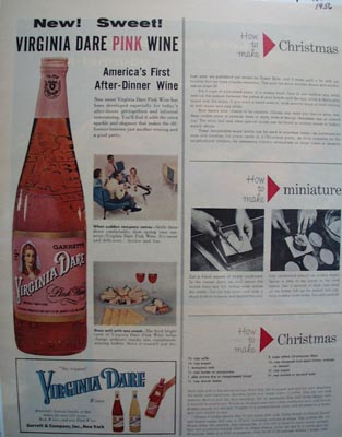 Virginia Dare America's First After Dinner Wine Ad 1956