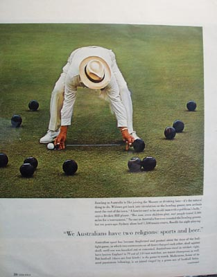 Beer & Sports in Australia Ad 1966