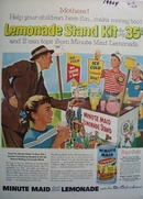 Minute Maid Lemonade Children Have Fun Ad 1956