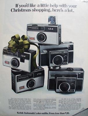 Kodak Help With Christmas Shopping Ad 1968