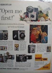 Kodak Open Me First Ad 1960