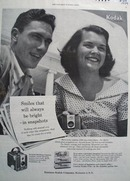 Kodak Smiles always bright Ad 1954