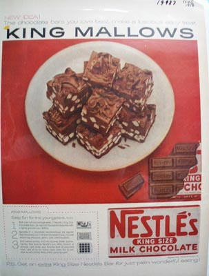 Nestles King Mallows Ad 1956