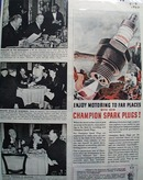 Champion Enjoy Motoring To Far Places ad 1940