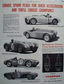 Champion For Quick Acceleration Ad 1954