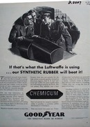 GoodYear Our Synthetic Rubber Will Beat It Ad 1943