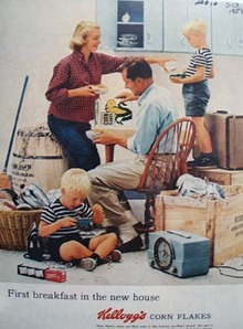 Kellogg's First Breakfast New Home Ad 1957