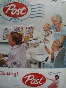 Post Happy Eating Ad 1956