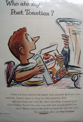 Post Toasties Who Ate My Post Toasties Ad 1955
