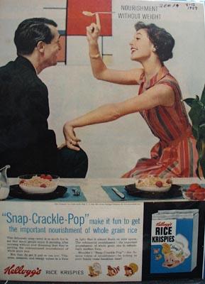 Kellogg's Fun To Get Nourishment Ad 1957
