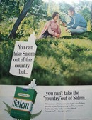 Salem cigarettes Take Salem Out of Country Ad 1968