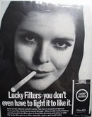 Lucky Filters Don't Have to Light Ad 1968