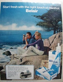 Belair Start Fresh with Menthol Ad 1972