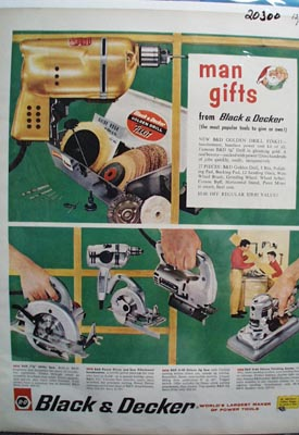 Black & Decker Man Gifts Ad 1960