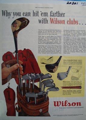 Wilson Golf Club Hit Them Farther Ad 1954