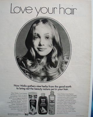 Wella Care Shampoo Love Your Hair Ad 1972