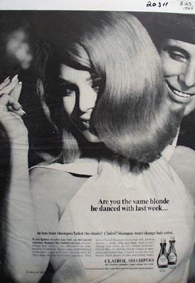 Clairol Shampoo Are You The Same Blonde Ad 1966