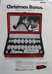 Clairol Christmas Bonus Ad 1968
