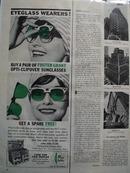Foster Grant Eyeglass Wearers Ad 1962