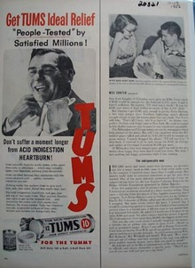 Tums People Tested Ad 1956