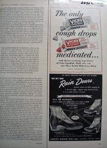 Vicks Cough Drops Medicated Ad 1956