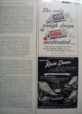 Vicks Cough Drops Medicated Ad 1956