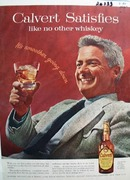Calvert Like NO Other Whiskey Ad 1955