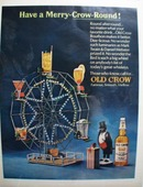 Old Crow Merry Crow Round Ad 1966