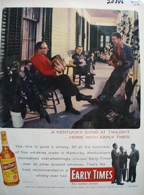 Early Times Whiskey Songs At Twilight Ad 1956